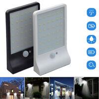 36 LED Solar Powered Motion Sensor Lamp Garden Security Outdoor Waterproof Light