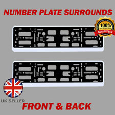 2x Number Plate Surrounds ABS Holder Silver for Mercedes-Benz SLK-Class