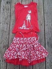 La Compagnie Des Petits ~ Girls Boutique Red Paris Mouse Summer Outfit ~ Size 6