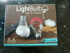 ThumbsUp Light Bulb Salt & Pepper Shakers. New. Boxed
