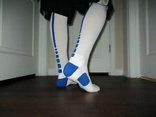 New With Tags Nike Elite Basketball Socks Large Knee Length White & Blue