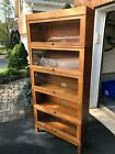 Globe-Wernicke Barrister Bookcase 5 Sectional Oak Plus Top And Base