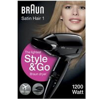 Braun Style&Go Satin Hairdryer 1 Womens Travel Mini Travel Heat Protect UK HD130