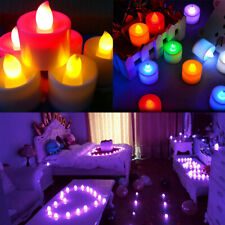 1-48X Electric LED Fake Candles Flameless Flickering Tea Light Wedding Home Deco