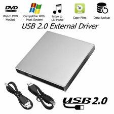 External DVD CD ROM Drive USB CD Player Disc Reader For PC Laptop Notebook