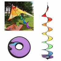 1PC Rainbow Spiral Windmill Tent Colorful Wind Spinner Garden Home Decoration