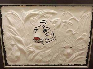 """""""Innocence"""" By Mauro Possobon Pozzobonelli LE 647/1200 Tiger Sculpture Art & COA"""