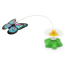 Funny Electric Rotating Colorful Butterfly Cat Kitten Toy Pet Scratch Toys