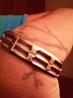 Vintage Sterling Silver Native American Tufa Cuff Solid Strong Masculine Energy