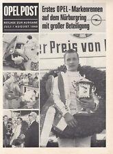 OPEL POST Motorsport Kadett B GT Coupe Commodore GS Prospekt Brochure 1969 /33