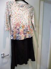 Damas Per Una Negro Forrado Falda Talla 8R + Gratis per una patrón de la hoja superior tamaño 10