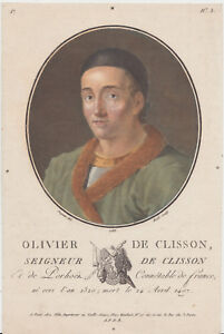 1788 engraving of Olivier V de Clisson by Ride after Sergent - printer Blin