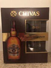 1 Flasche CHIVAS REGAL Whisky Geschenkbox mit Longdrinkglas