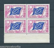 FRANCE SERVICE - 1963-71 YT 32 bloc de 4 - TIMBRES NEUFS** LUXE - 003