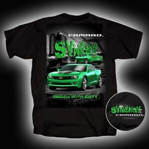 2010 2011 2012 2013 2014 67 68 69 70 CAMARO GREEN WITH ENVY SYNERGY TEE T-SHIRT