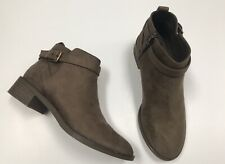 Berksha Ankle Boots Size 5 EU 37 Brown Suede Small Block Heel