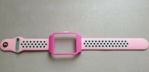 Sony SmartWatch 3 SWR50  Pink Housing & Pink + Green Dots Silicone Strap