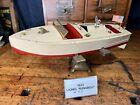 JC45 1933 ORIGINALVintage Lionel-Craft Toy Boat RARE antique Key Wind