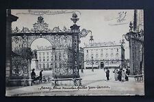 Tarjeta postal antigua NANCY - Plaza Stanislas - Rejillas Jean Lamour