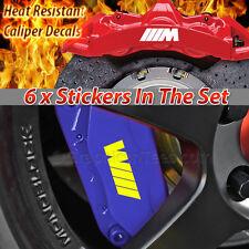 M Sport Brake Caliper Decals Stickers, M1, M2, M3, M4, M5 set of 6