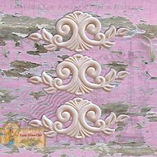 3 x Shabby Chic French Resin Furniture Appliques Molding Carving Decorations