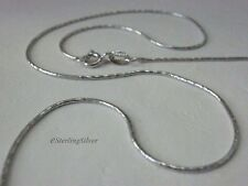 """925 Sterling Silver Fancy Snake Chain / Necklace, 18"""", 0.9mm, 2.8 Grams"""