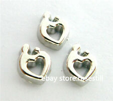 10pcs Heart Floating charms For Glass Memory Locket Free shipping FC849