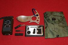 SURVIVAL GEAR EDC MULTI TOOL COMPASS LED SPORK HIKING CAMP MILITARY BACKPACK