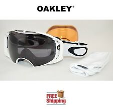 OAKLEY® AIRBRAKE™ SNOW BOARD SKI GOGGLES WHITE W/ DARK GREY +  PERSIMMON LENS