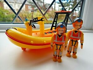 FIREMAN SAM AND PENNY MORRIS SEA RESCUE FIGURES WITH NEPTUNE RESCUE BOAT