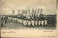 Gruss Aus Berlin Military Soldiers on Parade Fahnen Compagnie Postcard