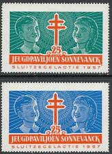 Netherlands Youth Pavilion Charity 2 Cinderella Poster Stamps 1957