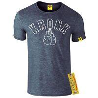 Kronk Boxing Gym Men's Outline Gloves T Shirt Hearns Klitschko  Navy Marl