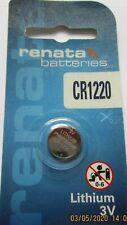 Renata Lithium Batterie CR1220 ED: 06.2022 - 3 Volt 40 mAh Knopfbatterien Japan