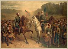 Civil War Prints and Drawings: Last Meeting Gen Lee & Jackson : Fine Art Print