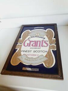 Glenfiddich Grants Whisky Advertising Mirror Vintage Pub Bar