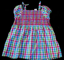 New Gymboree Ice Cream Sweetie Smocked Tunic Plaid Top Shirt Size 10 Year NWT
