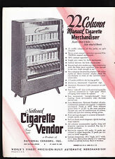 National Cigarette Vendor Series 222 brochure 1950s Vending