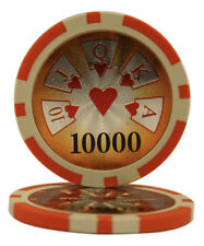 50pcs High Roller Casino Laser Clay Poker Chips $10000