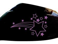 Shooting Stars Car Sticker Wing Mirror Styling Decals (Set of 2), Purple