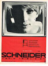 PUBLICITE ADVERTISING 014   1963   SCHNEIDER   téléviseur