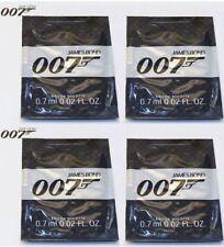 JAMES BOND 007 MENS 0.7ml x 4 EDT FRAGRANCE SAMPLES BRAND NEW POCKET SIZE TOP UP