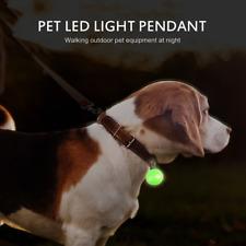 Dog Cat Safety LED Collar Glowing Night Flashing Cute Collar ID Pendant
