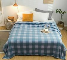 Plaid Winter Throws Blanket Flannel Warm Thick Soft Home Textile Bedspread Cover