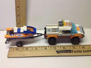LEGO  City Coast Guard. Truck,Trailer, & Boat. Minifig included