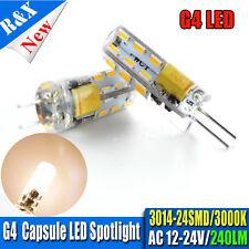 4X Ruiandsion G4 3014SMD LED Corn Bulb Light 1.5W Silicone Crystal Lamp AC12-24V