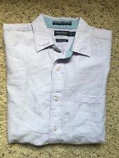 Nautica Classic Fit Linen Shirt Pastel Lilac Mens Size Medium New