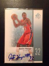 Upperdeck Sp Authentic Auto Card Justin Harper 2011-12