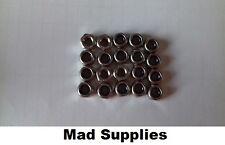M6 a2 acciaio inox cromato/Nylon Inserire Dadi Di Bloccaggio DIN 985 CONF. da 20