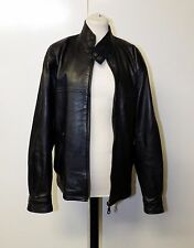"""Vintage Territory Clothing Co Black Mens Leather Jacket Size S Chest 42"""""""